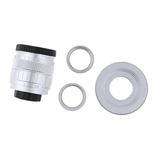 P Prettyia - Obiettivo CCTV 35 mm + anello adattatore macro + adattatore C-M4/3 tubo di prolunga per Olympus