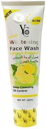 YC Whitening Lemon Extract Acne Face Wash (100 ml) for Unisex