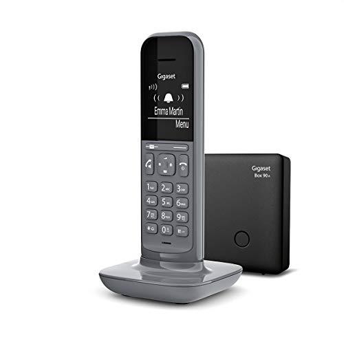 Gigaset CL390A Telefono Cordless con Segreteria Telefonica, Funzione Black List, Vivavoce, Display Ampio, Grigio [Versione Italiana]