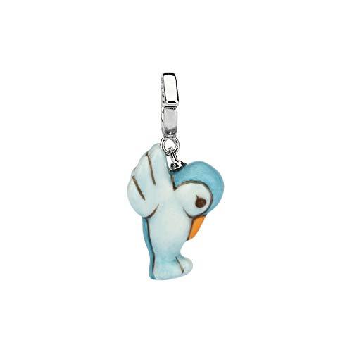 THUN - Charm Special Icon Colibrì - Accessori Camerette Neonati, Lampade e Decorazioni per Camerette - Idea Regalo - Bronzo Rodiato; Ceramica - 2x1x1,5 cm (+1 cm Gancio)