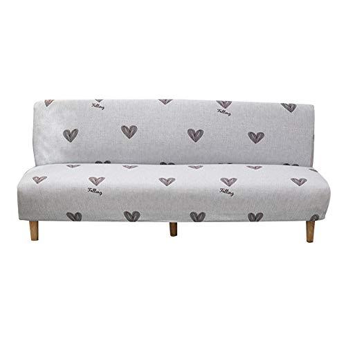 azurely Funda de sofá sin brazos, cubierta elástica para sofá de 3 plazas elástica plegable para decoración del hogar