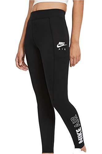 Nike W NSW AIR LGGNG HR, Leggings Femme, Black/(White), M