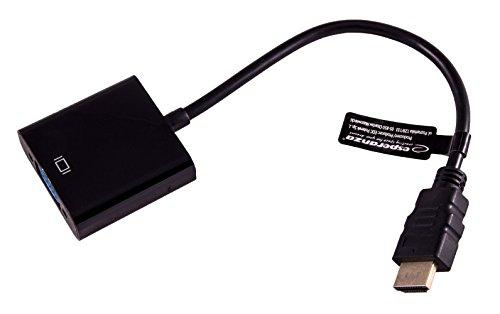 TOOGOO adaptador conversor HDMI a VGA + audio jack 3.5 mm full HD 1080P negro
