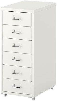 Ikea Helmer Cajonera, Madera, White, 11x27 18