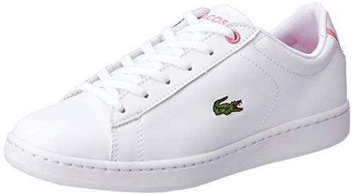 Lacoste Unisex-Child Carnaby EVO BL 2 SUJ Sneaker, Weiß (B53 White/Pink), 38 EU