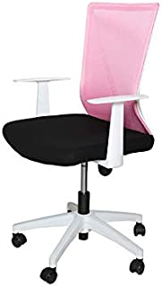 Homes r us Stella Collection Office Desk Chair with back support- Pink/Black