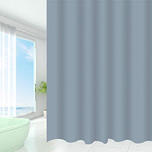 Mini Office Depot Schimmel Beständig Duschvorhang, Dicker Wasserfest Umweltfreundlich Badezimmer Vorhang mit Haken - Grau