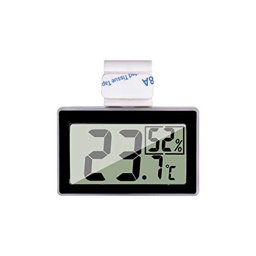 JLENOVEG Reptile Thermometer Humidity and Temperature Sensor Gauges Reptile Digital Thermometer Digital Reptile Tank Thermometer Hygrometer with Hook Ideal for Reptile Tanks, Terrariums