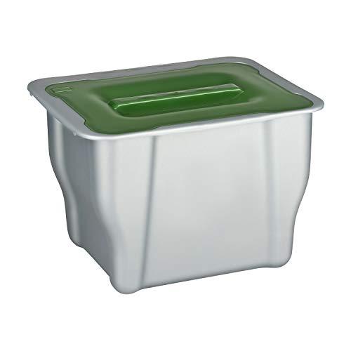 Shelfmade - Cubo de basura biológico para colgar - Cubo de basura con tapa de 5 l - Cubo de basura para compostaje