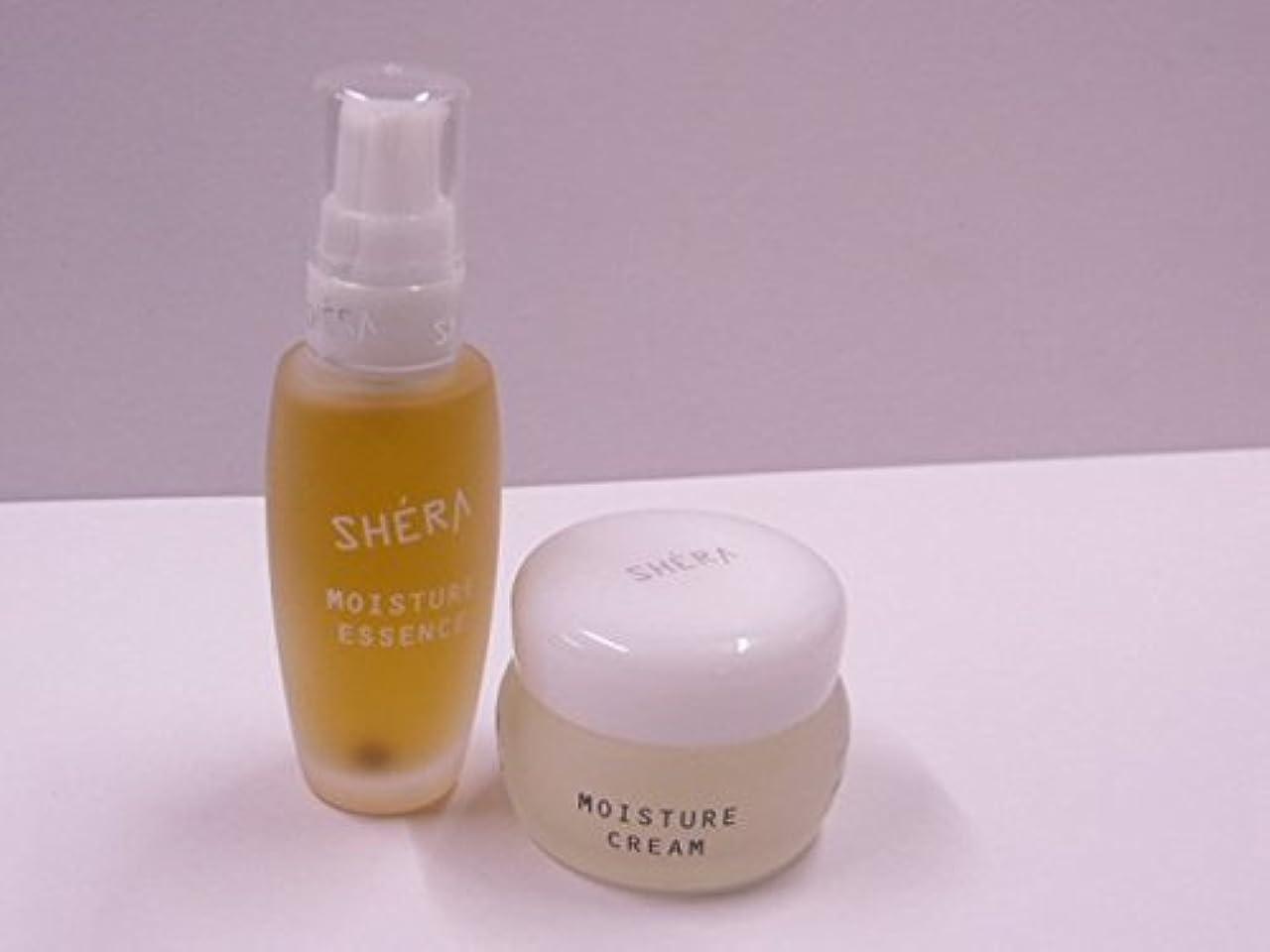 正直ボウリング素晴らしい良い多くのきれいになる!SHERA シェラバートン シェラモイスチャーエッセンス(美容液)32ml+moisture cream(保湿ジェル)35g