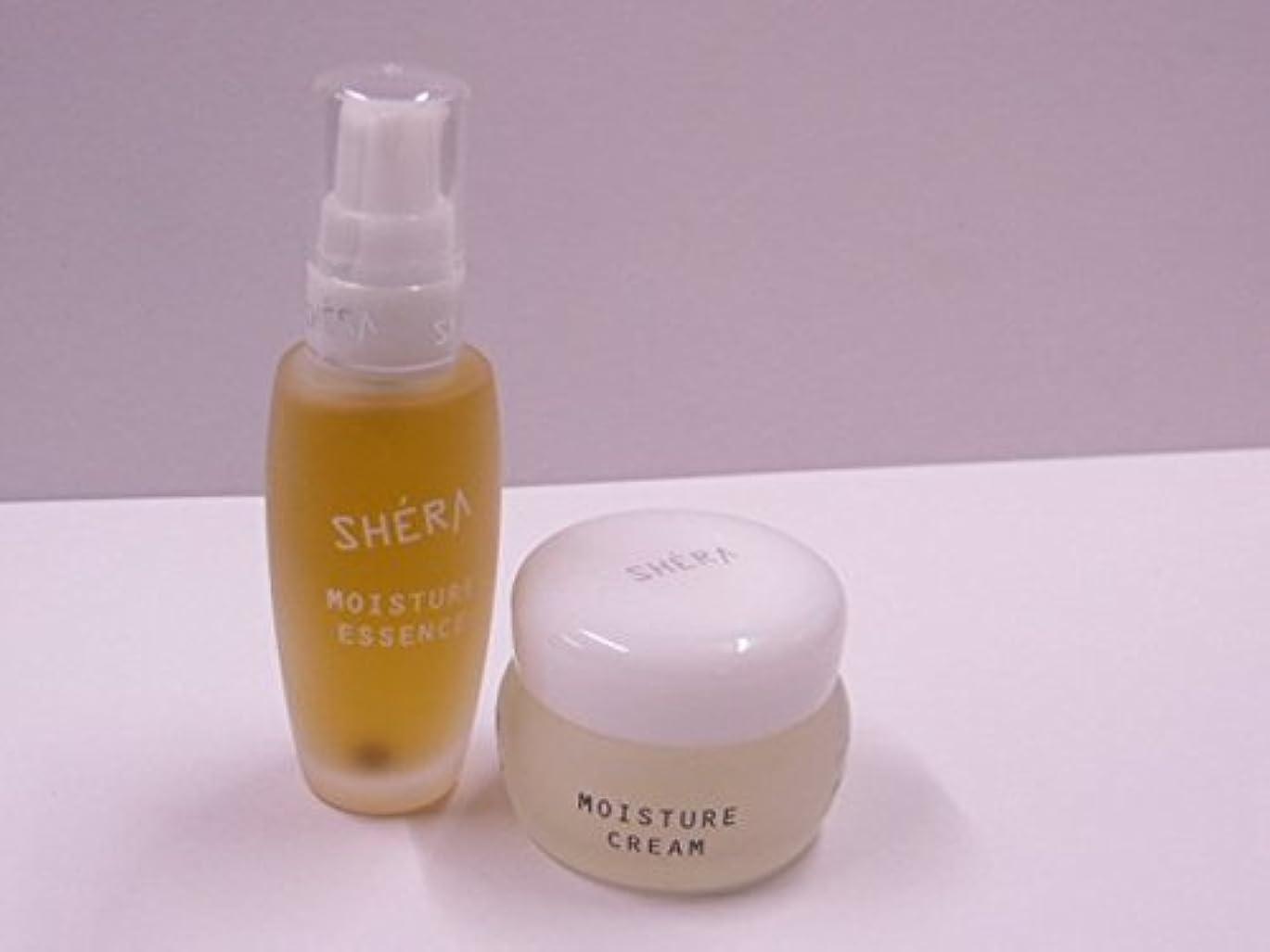 あざ滑りやすいかかわらずきれいになる!SHERA シェラバートン シェラモイスチャーエッセンス(美容液)32ml+moisture cream(保湿ジェル)35g