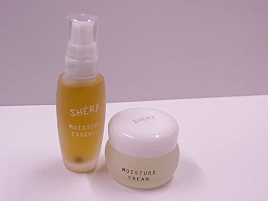 骨髄マーティフィールディング乗り出すきれいになる!SHERA シェラバートン シェラモイスチャーエッセンス(美容液)32ml+moisture cream(保湿ジェル)35g