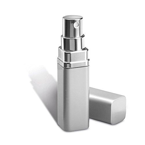 Petit atomiseur à parfum, argenté