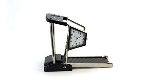 Siva Clock Treadmill - Reloj de cuarzo con correa de metal