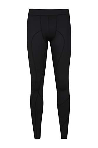 Mountain Warehouse Leggings de Course pour Homme - Vêtement de Sport léger avec Poches latérales - pour entraînement, Sports, Fitness, Gym et extérieur Noir S