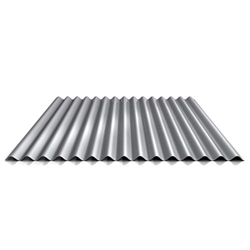 Wellblech | Profilblech | Wandblech | Profil PS18/1064CW | Material Stahl | Stärke 0,50 mm | Beschichtung 25 µm | Farbe Weißaluminium