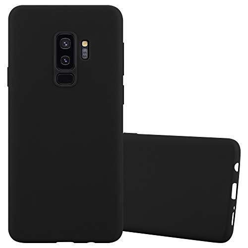Cadorabo Custodia per Samsung Galaxy S9 PLUS in CANDY NERO - Morbida Cover Protettiva Sottile di Silicone TPU con Bordo Protezione - Ultra Slim Case Antiurto Gel Back Bumper Guscio