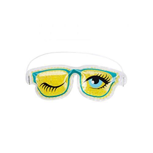 Masque de Refroidissement en Gel, pour le Sommeil ou Voyage, Soins yeux Chauds ou Froids, Idéal pour Insomnies, Gonflement et Cernes - coloris aleatoire