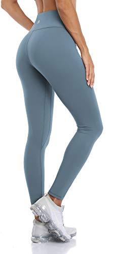 Anwell Damen Sporthose Seamless Yoga Pilates Für Zuhause Fitnessleggings Zuhause Blau Xs