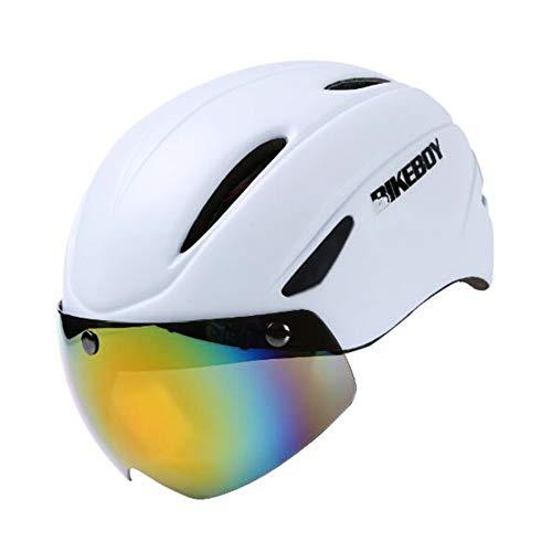 Fahrradhelm MTB Mountainbike Helm mit abnehmbarem magnetischem Visier Radhelm Rennradhelm für Erwachsenen Herren Damen