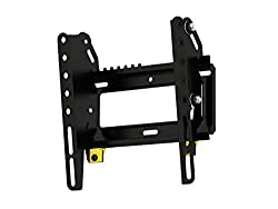 Fits TVs up to 40 inch, and 44 lbs Tilts for better viewing angles and glare management Easy-Click System Makes Installation, Quick, Easy, and Secure Hardware included for Wood Stud & Solid Walls The easy to follow instructions, simple install proces...