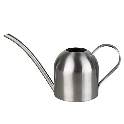 Hamkaw Kantoor Watering Can, Ultra-Dunne Moderne Stijl Geborsteld RVS Watering Kan Pot,500ml/17OZ Huis Plant Watering Kan met Comfort Handgreep, Lange Tuit, Sterk Lichaam voor in/Outdoor