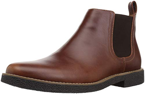 Deer Stags Men's Rockland Memory Foam Dress Casual Comfort Chelsea Boot, redwood/dark brown, 11 Medium US