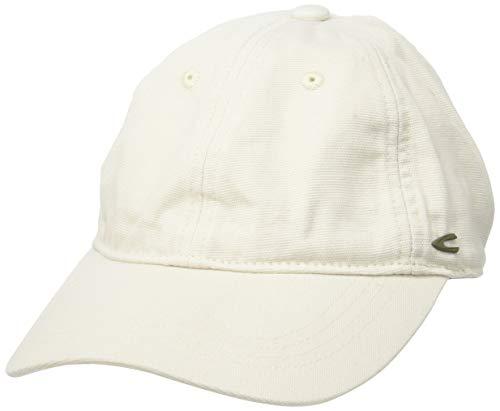 Camel Active Womenswear Damen Cap-6-Panel Baseball Cap, Weiß (Offwhite 10), Medium (Herstellergröße:M)
