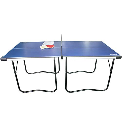Learn More About IFOYO Folding Table Tennis Table, 6FT Foldable Space Saving Ping Pong Table, Portable Indoor/Outdoor Mid-Size Table Tennis Game Set for Kids with Net, 2 Balls and 2 Table Tennis Paddles (Blue)