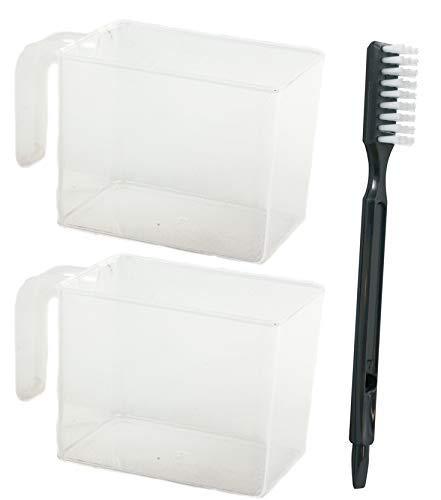 Omega 8006 Saftpresse Ersatzschüssel-Set aus Zellstoff und Saft Collection aus Kunststoff, transparent farblos