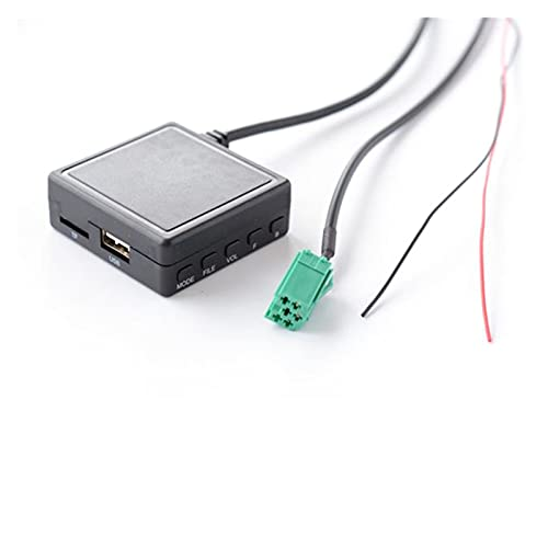 Qinndhto 3.5 MM Cable de Audio para automóvil Micrófono Medios de Micrófono AUX TF USB Adaptador de música en Forma inalámbrica para Mini Entrada ISO 6 Pin Renault estéreo Adaptadores