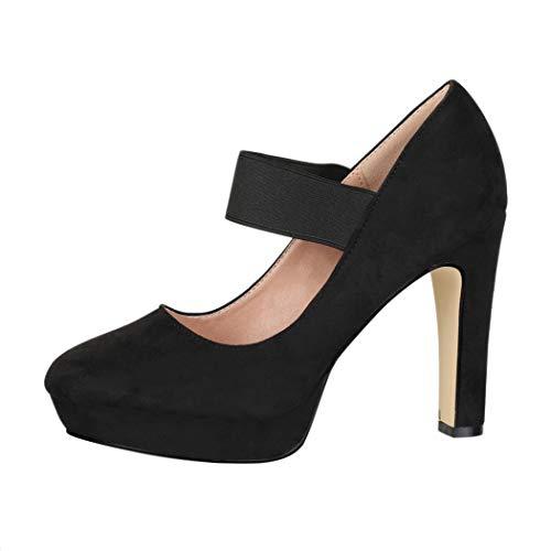 Elara Zapato de Tacón Alto con Correa Mujer Vintage Chunkyrayan