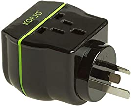 Korjo International Power Adapter, 16 Centimeters, Black/Green