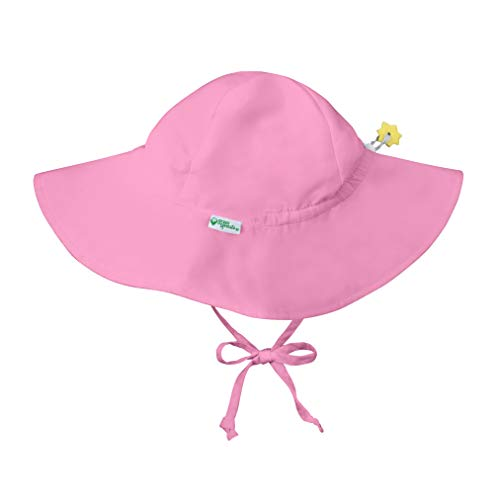 i play. by green sprouts Baby Toddler Brim Hat | All-Day UPF 50+ Sun Protection for Head, Neck, Eyes, Light Pink, 2T/4T