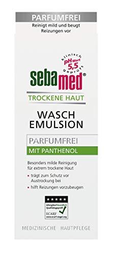 Sebamed Trockene Haut Waschemulsion parfumfrei 200 ml, eine besonders milde Reinigungsformel reinigt gründlich, ohne zu reizen oder auszutrocknen