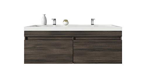 Badplaats B.V. Badezimmer Badmöbel Avellino 120 cm Eiche dunkel - Unterschrank Schrank Waschbecken Waschtisch