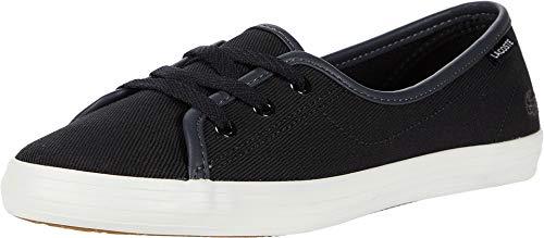 Lacoste Women's Ziane Chunky Sneaker, Black/Off White, 9.5 Medium US