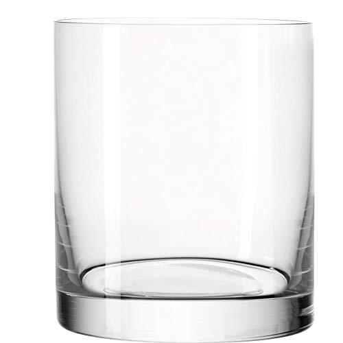Leonardo Easy+ Trink-Gläser, 6er Set, spülmaschinenfeste Wasser-Gläser, geradlinige Glas-Becher, Saft-Gläser, Größe S, 310 ml, 039614