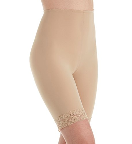 Jones New York Women's Lace Shapewear Tummy Control Thigh Slimmer 785175 L Nude