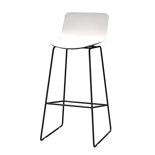 Tabouret de bar Comptoir de bar en PP, chaise incurvée avec repose-pieds et dossier, tabouret haut noir et blanc pour le restaurant de bar, restaurant de pub, cuisine, soutien maximal 330 lb