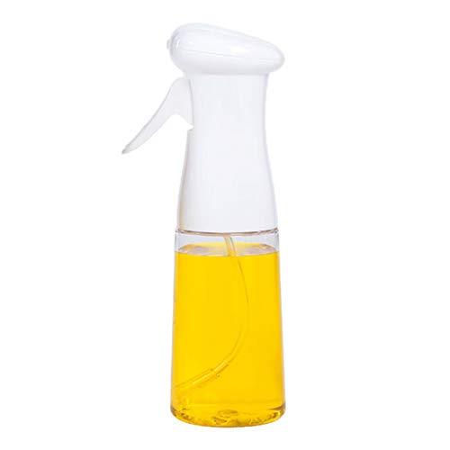 porfeet Dispensador de aceite Mister botella fácil de rellenar aceite de oliva a prueba de fugas contenedor de condimentos 200 ml cocina barbacoa hornear vinagre ensalada pan herramientas blanco