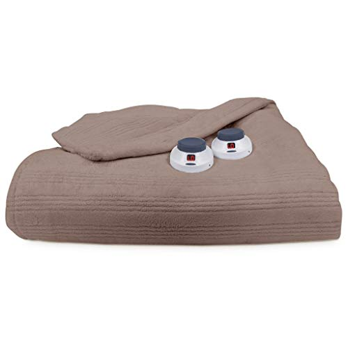 SoftHeat by Perfect Fit | Ultra Soft Plush Electric Heated Warming Blanket with Safe & Warm...