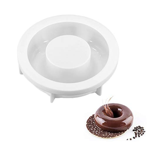 Heilonglu Runde Donut-Kuchenform, 3D-Kunst-Silikonform, Mousse, Schokolade, Mousse, Backform
