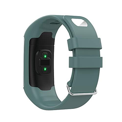 KINOEHOO Correas para relojes Compatible con Polar A360 A370 Pulseras de repuesto.Correas para relojesde silicona.(Verde roca)