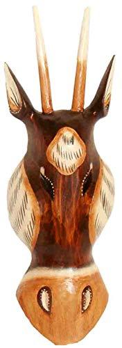 Máscara decorativa (30 cm, madera), diseño de antílope