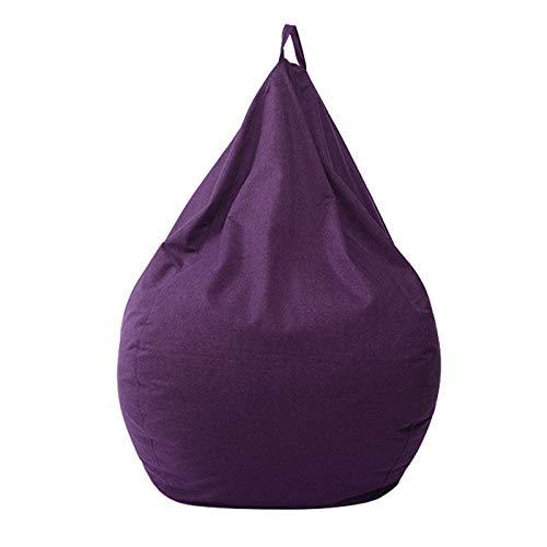 WXFN Riesen Sitzsack Stuhl Ohne Füllung Riesen Sitzsack Kissen Stuhl Für Kinder Und Erwachsene (11 Farben),Violett,XL