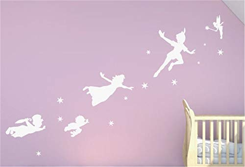 pegatina de pared Peter Pan Tinkerbell Home Decor para niños habitación Art Sticker