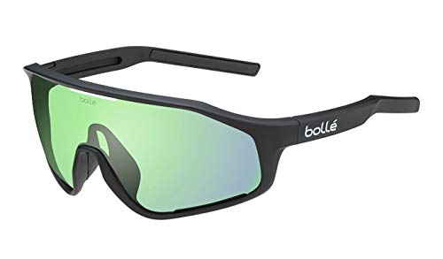 Bolle 12504 Shifter Matte Black Sunglasses Green Lenses, Green