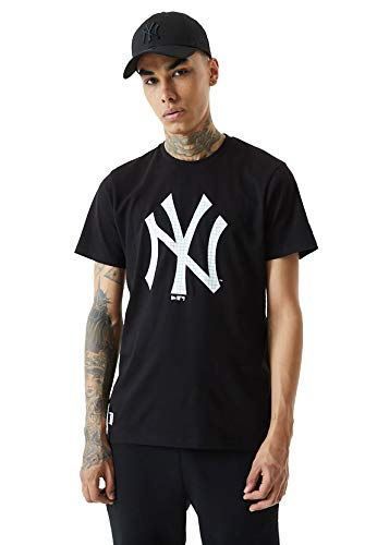 New Era NY Yankees MLB- Camiseta Casual para Hombre (L)