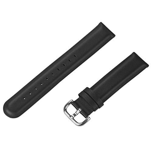 Baluue Compatible para Huawei Watch GT 2 Correa de Reloj 46Mm Correa de Reloj de Pulsera de Cuero de Vaca Compatible con Huawei Watch Negro